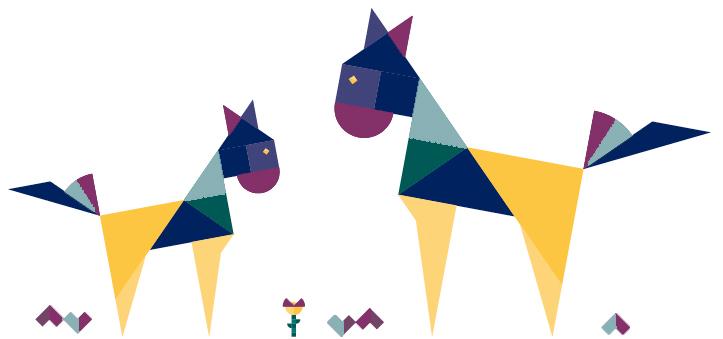 Pferd-Grafik-puzzle.plus